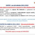 Zapisy na rok szkolny 2021/2022 !!!